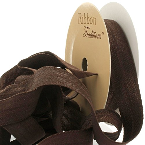 "3/8"" Fold Over Elastic Brown 3 Yard"