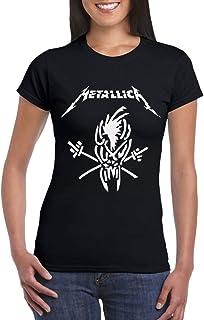 Camiseta Grupos de Rock Metal Mujer Chica Niña Scary Guy Band Rockera