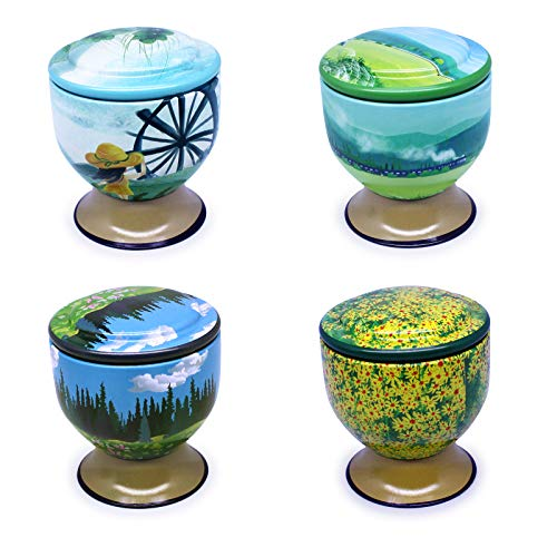 iwax Scented Candles Natural Soy Wax with Pastoral Style (4 Pack)