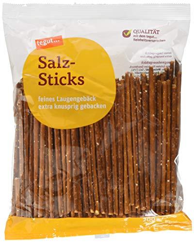 tegut… Reinheitsversprechen Salz-Sticks - mit Meersalz - extra knusprig gebacken, 1er Pack (1 x 200 g), 230977