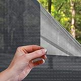 LC&TEAM Película de espejo / ventana Película de protección solar autoadhesiva para privacidad, oscurecimiento - Película de tinte aislamiento térmico Protección UV [75*300CM] [azul]