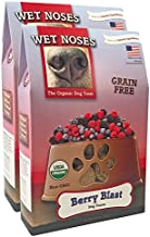 Wet Noses Organic Crunchy Dog Treats – for All Pet Sizes, Breeds – All-Natural Puppy Treat, Senior Dog Snack – 100% Human-Grade – Delicious Chews for Dogs – Grain-Free Berry Blast, 14 Oz (2-Pack)