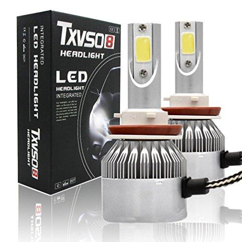 CKQ-KQ LED koplampen H11 / 9/8 LED 6000K Bright White Fog Gloeilampen - verpakking van 2 Car Light