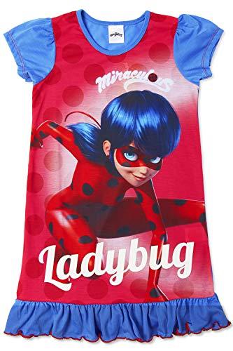 Disney Princess & Tv Character Mädchen Nachthemd Mit König Der Löwen, Aladdin, Cinderella, Paw Patrol, Little Mermaid | Kindernachtwäsche Mit Prinzessinnen (6/7 Jahre, Miraculous Ladybug)
