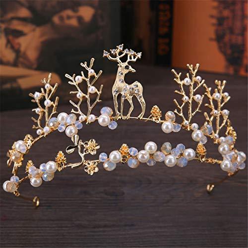 DSGYZQ Bridal Wedding Flower Crown Crown Tocado Crown Crown Diadema Accesorios para el Cabello para Las Mujeres Cumpleaños Crown Joyería,6