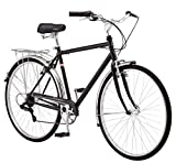 Schwinn Wayfarer Adult Bike Hybrid Retro-Styled Crusier, 18-Inch/Medium Steel Step-Over Frame, 7-Speed Drivetrain, Rear Rack, 700C Wheels, Black