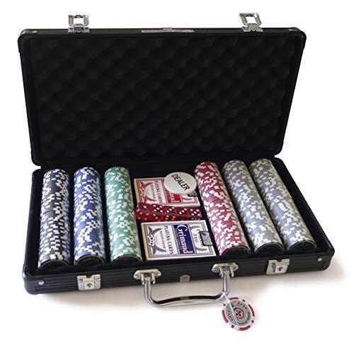 Smir–360325–World Poker Tour––Custodia in Alluminio Nero Americano Grimaud Poker 300Chip Casinò