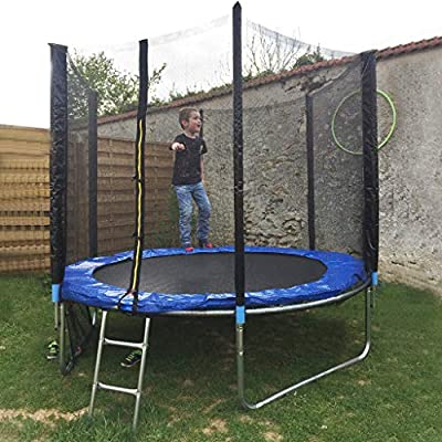 A-free 10 FT Outdoor Kids Trampoline with Enclosure Net Jumping Mat & Spring Cover Padding, Max Loading Capacity 442 lbs (8FT)