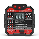 Taiss/NEW Advanced With voltage display GFCI Outlet Socket Tester 48-250V Power Automatic Electric Circuit...