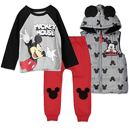 Disney Mickey Mouse Baby Boys Vest Shirt and Pant Set 18 Months