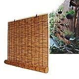 XYNH Bambusrollo Raffrollo-Holzrollo Für Fenster,Für Küche, Wohnzimmer, Terrasse, Pavillon, Terrasse,Bambus-Rollo Natur,Für Türen Und Fenster