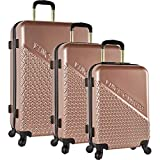 Vince Camuto Sierrah 3 Piece Spinner Luggage Set (Rose Gold)