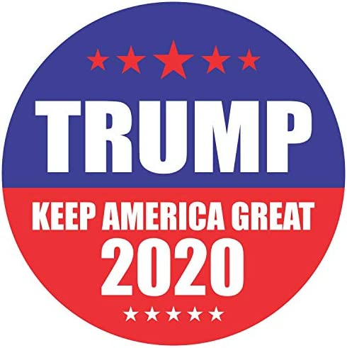 Trump 2020 Stickers Seals Labels Pack of 120 2 Large Round Keep America Great for President product image