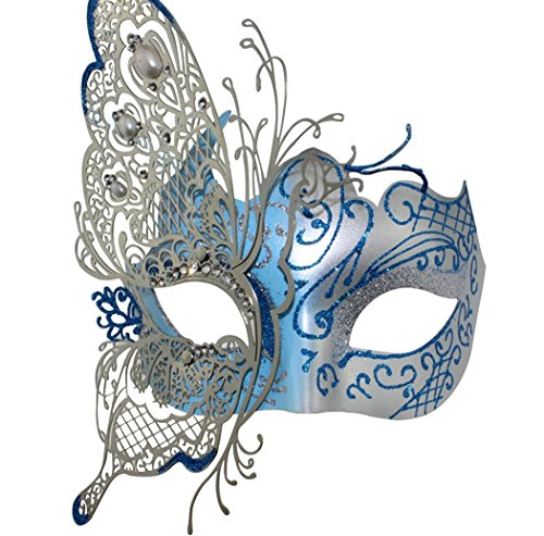 Mysterious Venetian Butterfly Shiny Butterfly Lady Masquerade Halloween Mardi Gras Party Mask