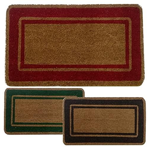 Parpyon® Zerbino ingresso casa Classico cm 40X80 tappeto ANTISCIVOLO zerbino in cocco per interno zerbino da esterno tappeti moderni zerbini (Rosso40x80)