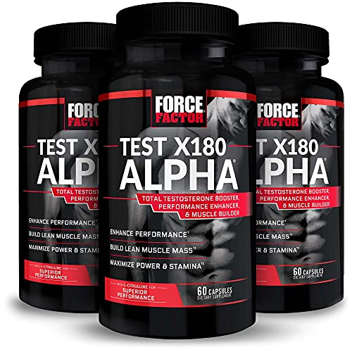 Test X180 Alpha Total Testosterone Booster for Men with...