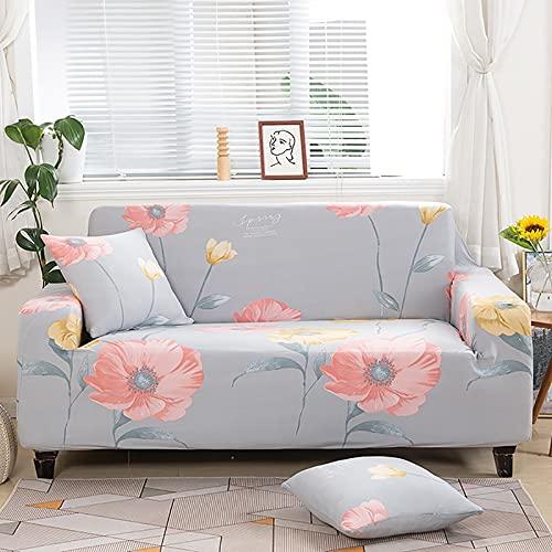 Funda de sofá geométrica elástica para Sala de Estar, sofá de Esquina seccional Moderno, Funda Protectora para sofá, Protector de Silla A20 de 3 plazas