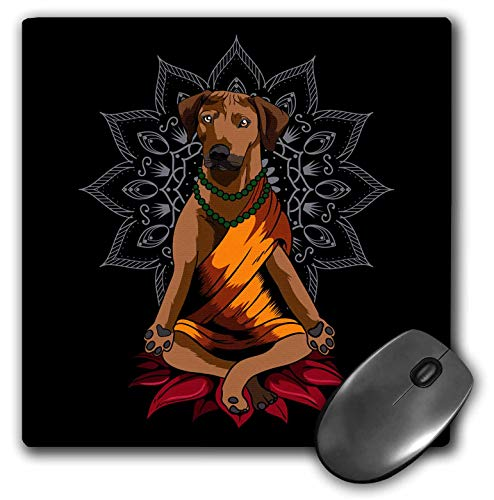 3dRose Rhodesian Ridgeback Dog with Mandala Yoga Buddha Zen - Mouse Pads (mp_333571_1)
