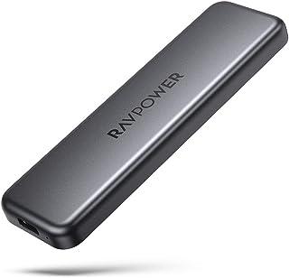 RAVPower Portable External SSD Pro, 1TB Hard Drive with 540MB/S Data Transfer, NAND Flash, USB 3.1 Gen 2 Interface, ATA Lock, Mini USB C Solid State Drive