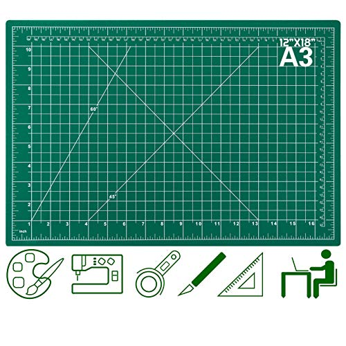 Self Healing Cutting Mats for Sewing Audab 12quot x 18quot Rotary Cutting Mats for Crafts 5Ply Double Sided Fabric Cutting Mat for Sewing Quilting Scrapbooking Arts amp Crafts