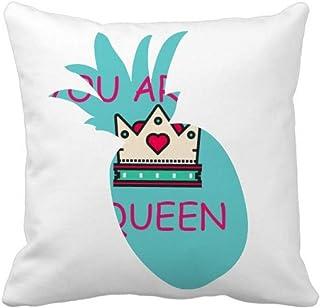 OFFbb-USA My Queen Royal Regina Majesty Piña Funda de almohada cuadrada