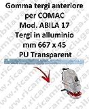 ABILA 17 GOMMA TERGIPAVIMENTO anteriore per COMAC ricambio lavapavimenti squeegee