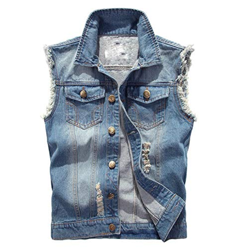 Heren Jas Bovenkleding Tops Blazer Slim Fit Skinny Cowboy Denim Vest Taillejas Top Ontworpen