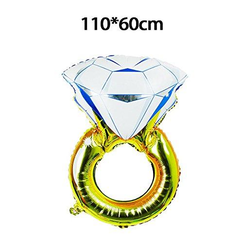 Sungpunet Ballon de Mariage en Film Plastique Diamant 110 x 60 cm