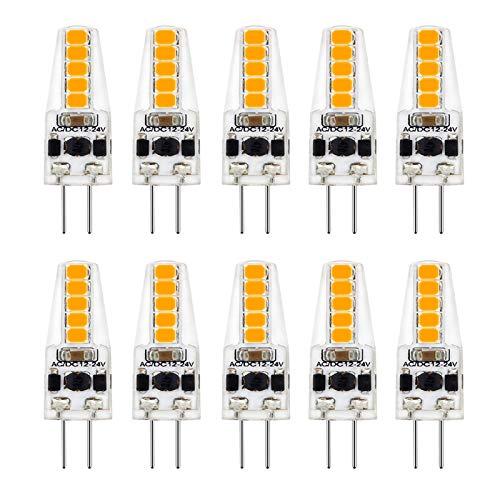 SHKUU Bombilla luz LED bi Pin G4 Bombilla Repuesto 20w Jc T3 Bombilla halógena Adecuada para candelabro Iluminación Paisaje Gabinete Pilling Light