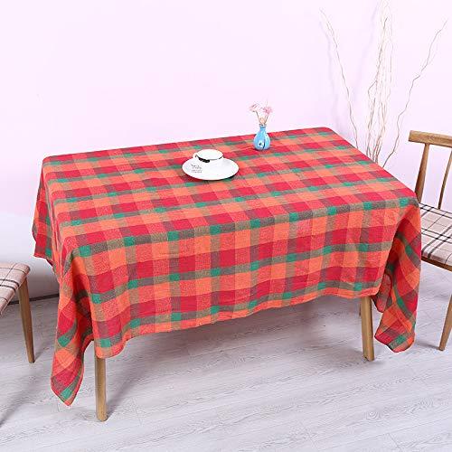 DJUX Lot de 4 sets de table rectangulaires en polyester Motif carreaux 30 x 30 cm, style 3, 140*220cm