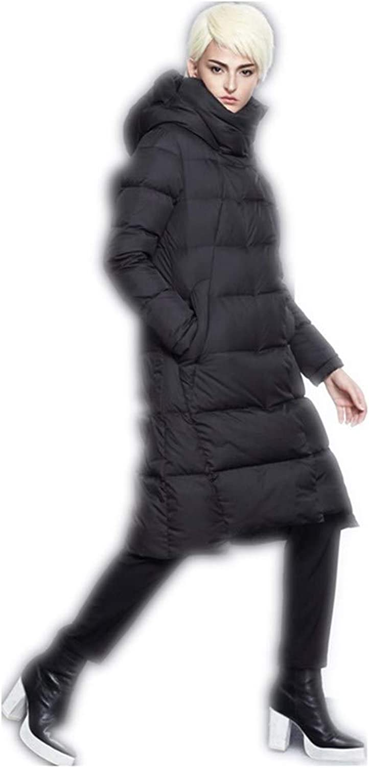 Xqqzql Women Winter Long Thick Black bluee Red Winter Down Coat