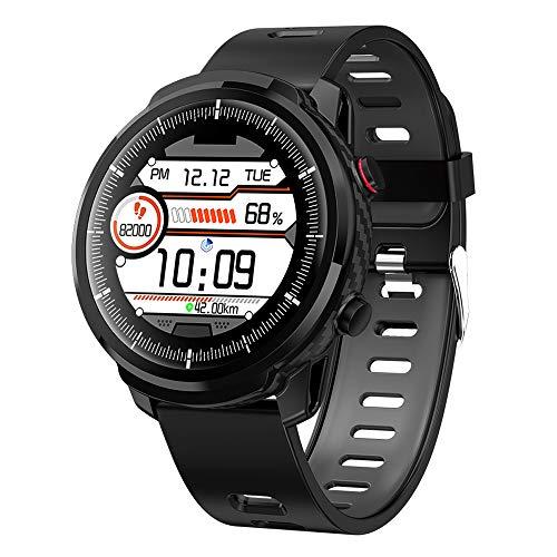 QIANRUNHE L3 IP68 wasserdichte Vollrunde Smartwatch Armband Bluetooth Step Blutdruck Sauerstoff Herzfrequenz Messung Uhr, Schwarz