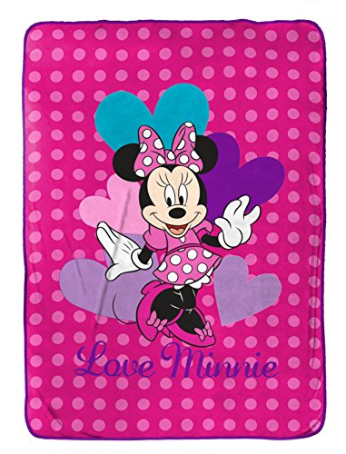 Disney Minnie Mouse Exploded Hearts Blanket 62' x 90'