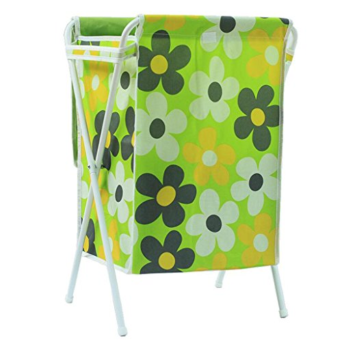 Sacs de rangement Xuan - Worth Another Modèle Floral Vert Blanc Tube Sale Panier Panier Oxford Tissu matériel Panier Panier avec Couvercle