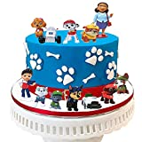 12PCS Paw patrol cake topper,cake and cupcake decorations topper,paw patrol mini toys,children's Action Figures Collection birthday shower party supplies