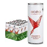 acáo Granatapfel-Minze, Bio-Erfrischungsgetränk mit Guaraná (12 × 250 ml), inkl. 3 € Pfand – die gesunde Alternative zu Energy Drinks – kalorienarm, bio-zertifiziert & vegan