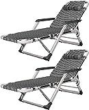 Cómodo Solaciones plegables livianas Sillas de jardín plegables Conjunto de 2 silla de gravedad cero, silla reclinable plegable cero gravedad jardín sol tumbona, oficina casa balcón siesta ocio siesta