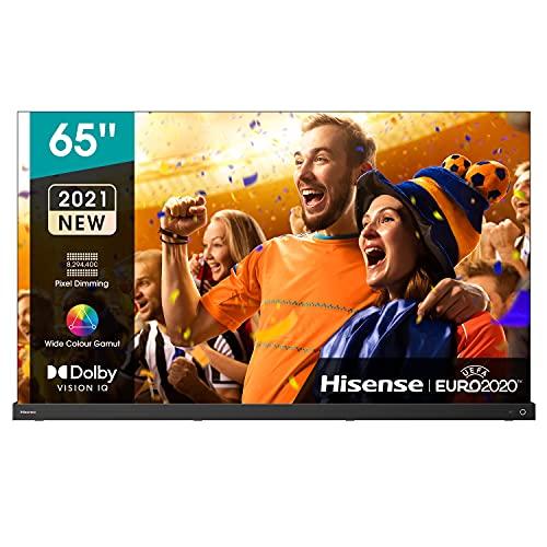 Hisense 65  OLED 4K 2021 65A98G, Soundbar Integrata 2.1.2 120W Dolby Atmos, Smart TV VIDAA 5.0, HDR Dolby Vision IQ, Controlli vocali Alexa   Google Assistant, Tuner DVB-T2 S2 HEVC 10, lativù 4K