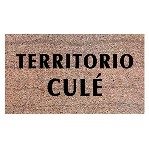 Felpudo Territorio Culé. Regalos Aficionados del Barcelona. Felpudo Coco 70x40 Futbol. Felpudo Barcelona FC