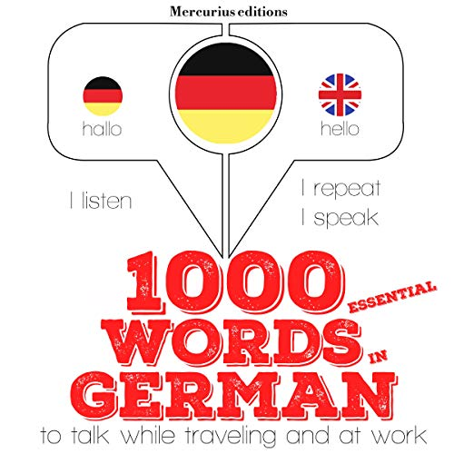 1000 essential words in German audiobook cover art