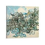 Poster von Vincent van Gogh (Alter Weinberg mit Bauernfrau), dekoratives Gemälde, Leinwand, Wandkunst, Wohnzimmer, Poster, Schlafzimmer, Gemälde, Rahmen, 30 x 30 cm