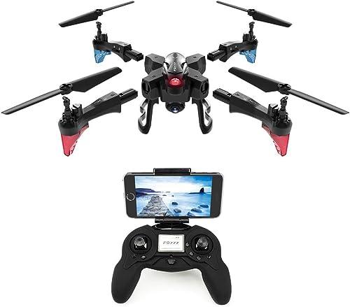 HaoLiao Ferndrohne und Kamera, WiFi-Antenne Fernsteuerungsflugzeug, 2.0mp Pixel, Home Quadcopter, Verstellbarer Weißwinkel, intelligente Batterie-Lange ReichWeiße,schwarz