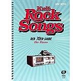 Kultpiercing-Rock Musique des années 1970–30classique, arrangés pour Piano–Eagles, Elton John, Rod Stewart, Supertramp etc...–PIANO Notes avec coloré Cœur Note Pince