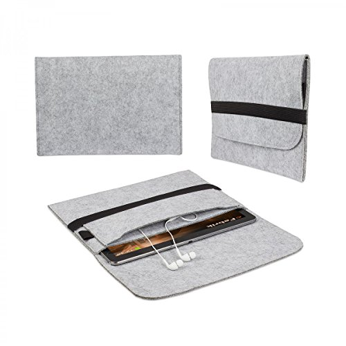eFabrik Filz Tasche für Medion Lifetab P8314, P8312 | P8311 | S8312 | S8311 Tablet 8 Zoll Hülle Schutz Cover Hülle grau