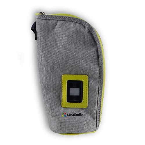 LinaSmile USB Flaschenwärmer für Babykost, Getränke, Warmhaltefunktion, einstellbar, thermotasche
