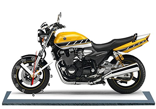 auto-horloge Yamaha 1300 XJR Roberts, Miniatur Modell Motorrad in der Uhr 13