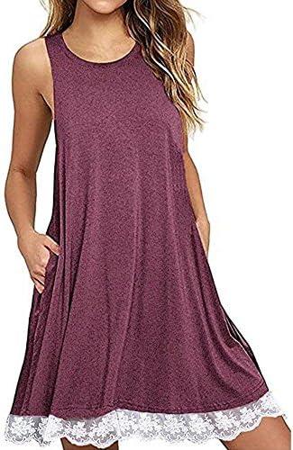 Summer Dress Boomboom 2018 Women Teen Girls O Neck Casual Sleeveless Above Knee Beach Dress product image