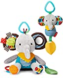 Skip Hop Bandana Buddies Baby Activity & Teething Toy Set with Multi-Sensory Rattle & Textures, Elephant, Multi
