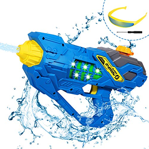 ARANEE Pistola ad Acqua elettrica con Occhiali Pistola ad Acqua Squirt Pistole per Bambini, Giocattolo da Combattimento per Acqua da Spiaggia da Spiaggia all'aperto