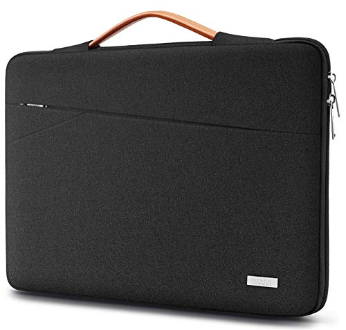 TECOOL 14 Inch Laptop Sleeve Protective Case Cover with Handle and Front Pockets for 14 Inch HP Lenovo Thinkpad Ideapad Dell Acer ASUS Laptops Chromebooks Notebooks, Pure Black